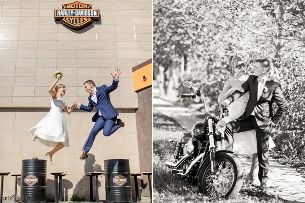 Harley Davidson vestuvėse