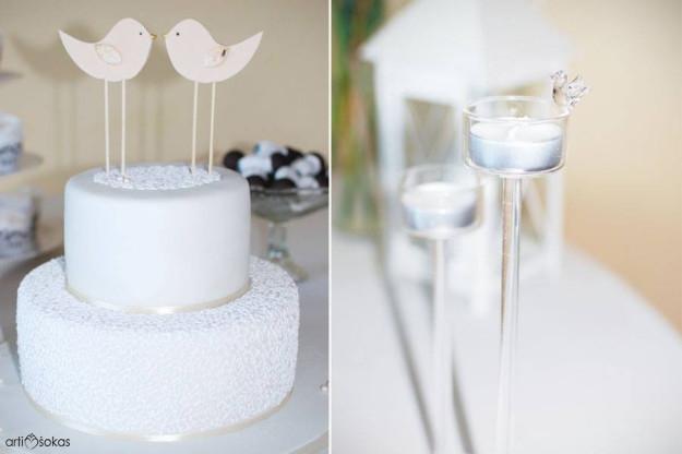 Vestuvių dekoras - paukštukai