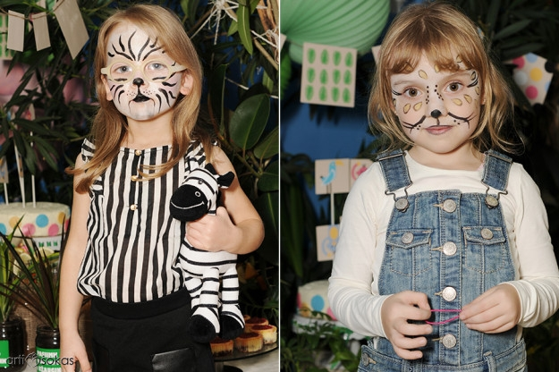 Piešimas ant veido - zebras
