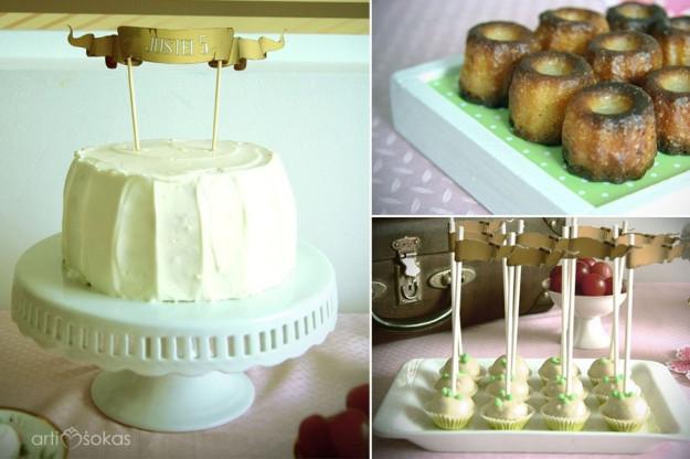 Gimtadienio tortas, caneles, cake popsai