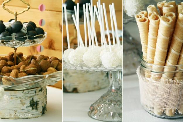 Gimtadienio vaišės - saldaus stalo dekoras