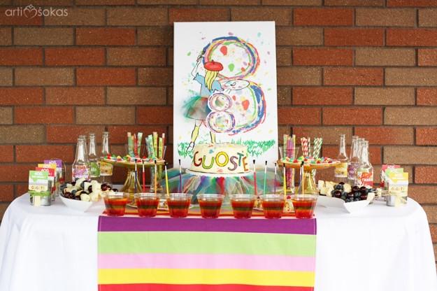 Spalvingas saldusis stalas - 8 metai