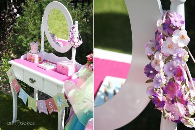 Fėjų gimtadienio kostiumai - gėlių vainikėlis