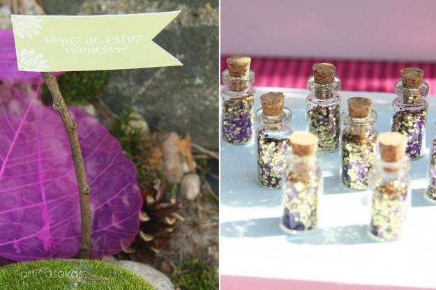 Stebuklingos magiškos fėjų dulkės buteliukuose