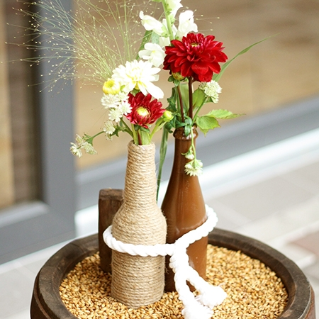 Lauko gėlės vestuvėse ir dekore