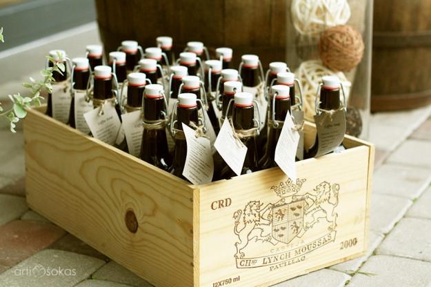 Dovanėlės svečiams vestuvėse - naminis alus