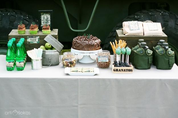 Saldusis stalas ir jo dekoravimas