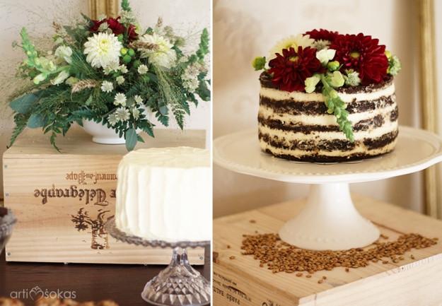 Vestuviniai tortai - saldaus stalo dekoravimas