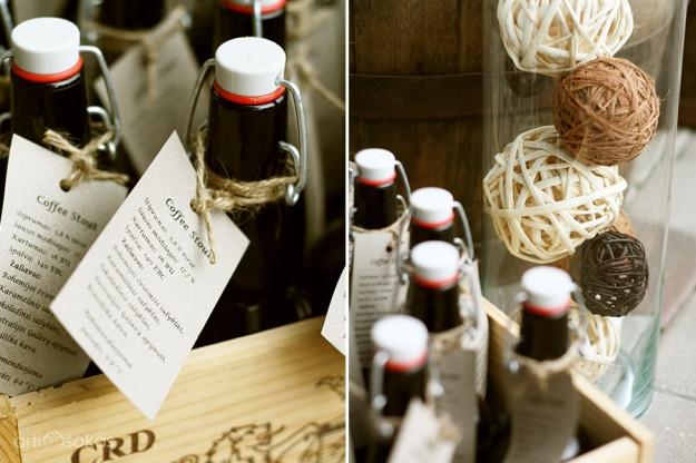 Dovanėlės svečiams - naminis alus su etikete