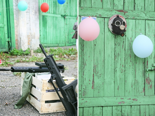 Karinio gimtadienio pramogos - šaudymas į balionus