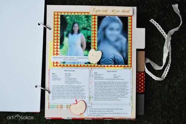 Mergvakaris - dovana nuotakai - personalizuota receptų knygelė