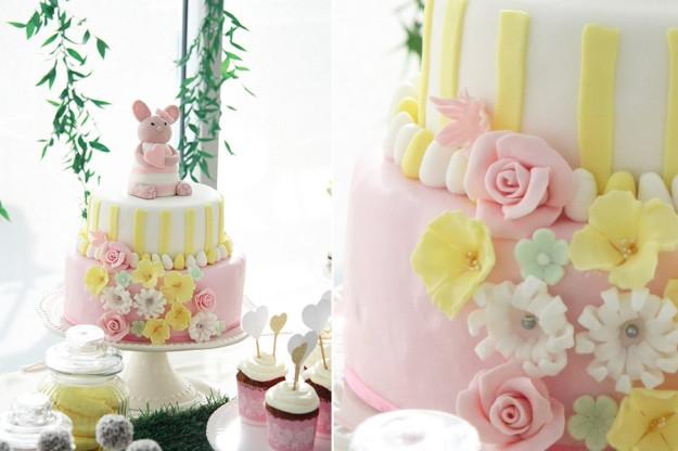 Krikštynų šventinis tortas