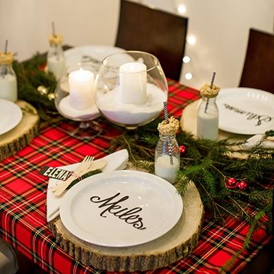 Kalėdų stalas, dekoras