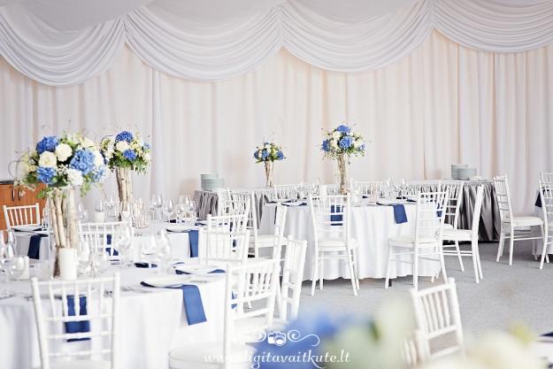 Mėlynos hortenzijos, medžiaginės servetėlės