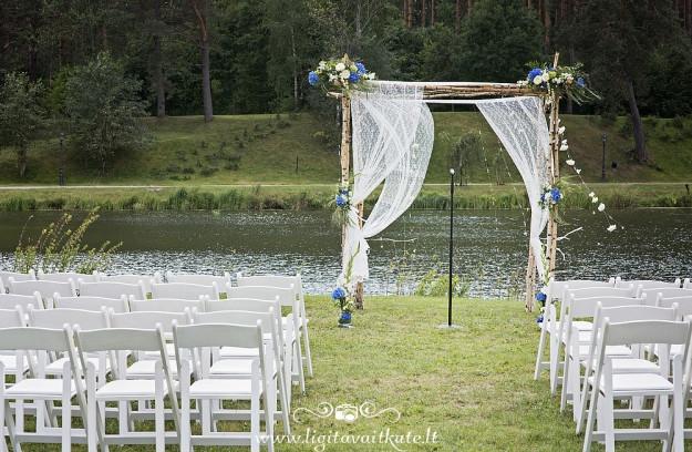 Vestuvių arka iš beržų