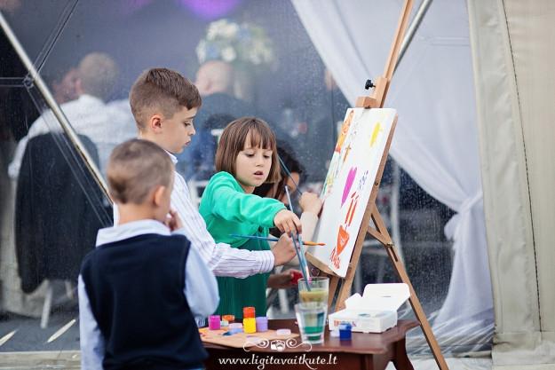 Vestuvės - paveikslo tapymas jauniesiems