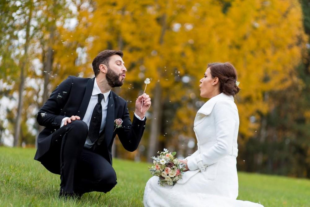 Jaunųjų fotosesija, vestuvės rudenį