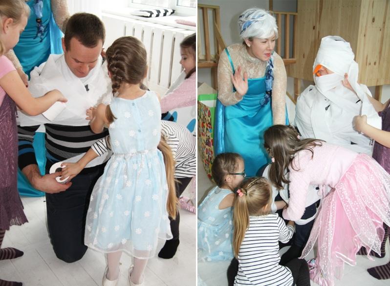 Frozen teminis gimtadienis ir personažas Elza