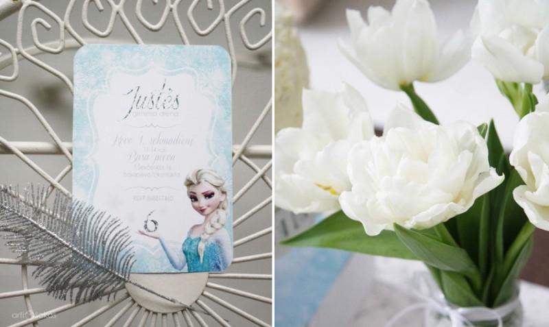 Frozen teminio gimtadienio kvietimas su Elza