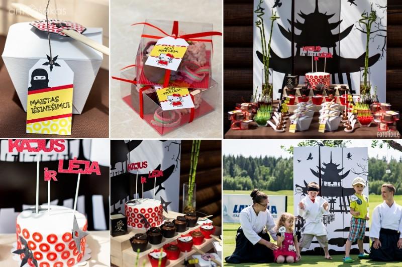 Hello Kitty ir nindzių gimtadienio dekoravimas