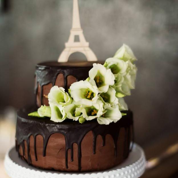 Šokoladinis vestuvinis tortas
